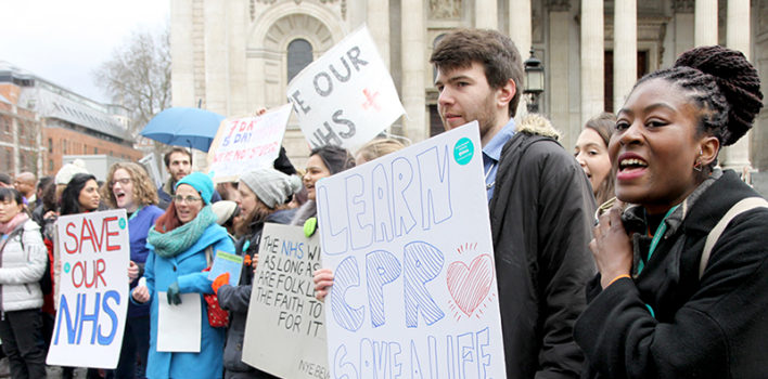 Save our NHS: St Barts Junior Doctor Strike