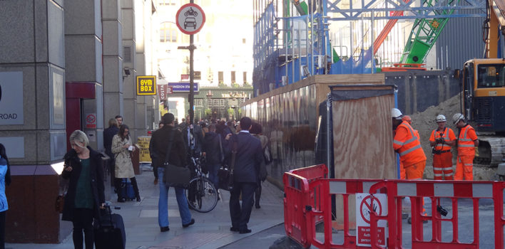 Tunnel vision: street-level disruption at Farringdon
